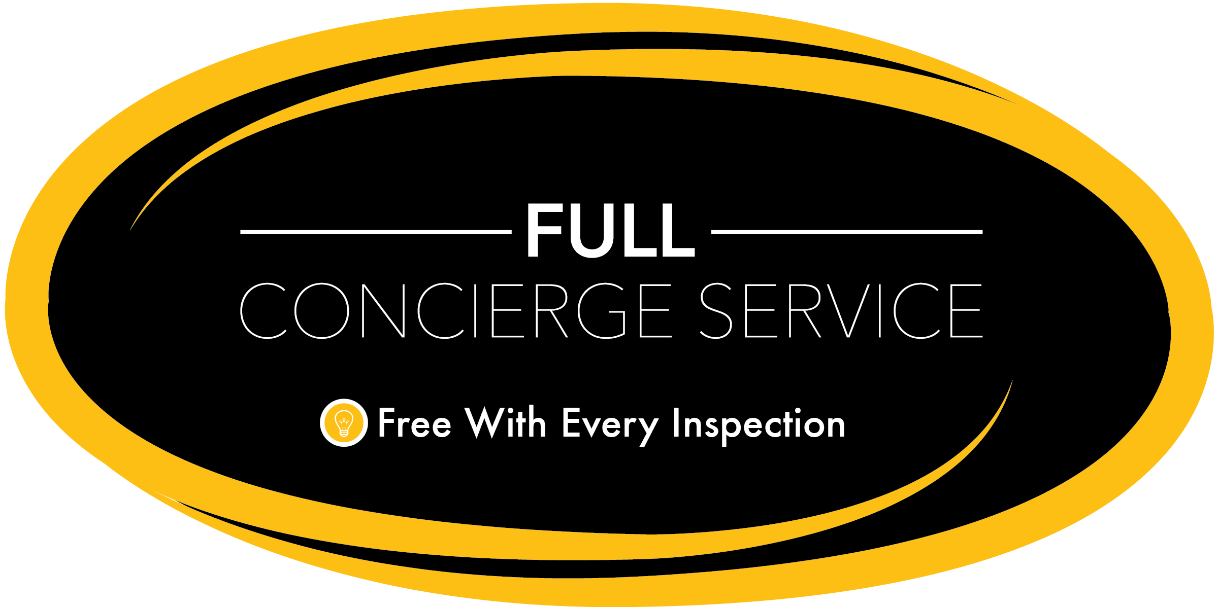 concierge service with each home inspected.