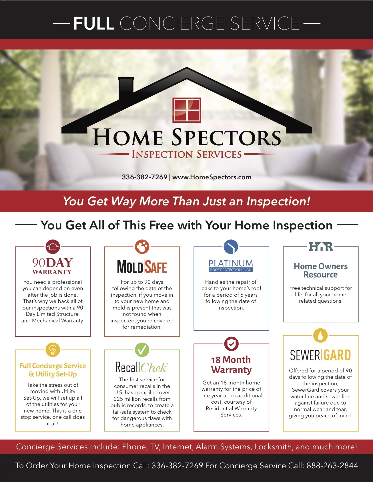Greensboro home inspection flyer